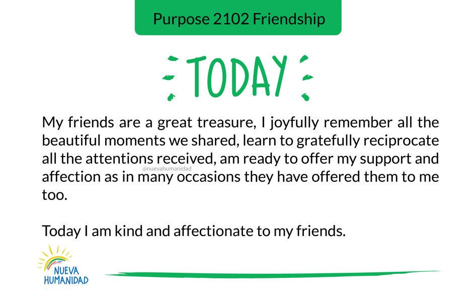 Purpose 2102 Friendship