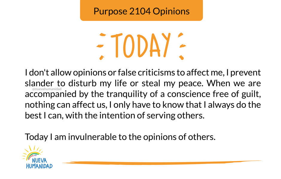 Purpose 2104 Opinions