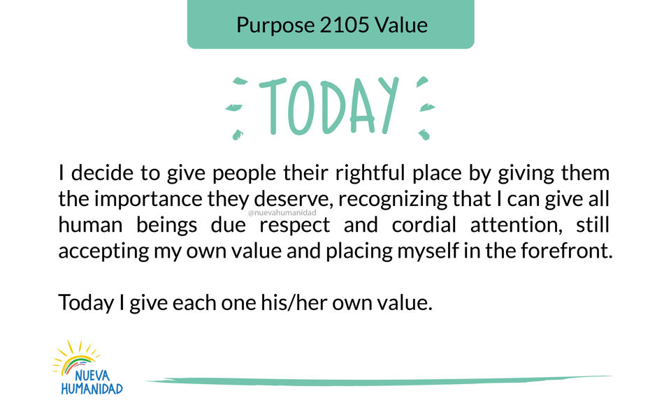 Purpose 2105 Value