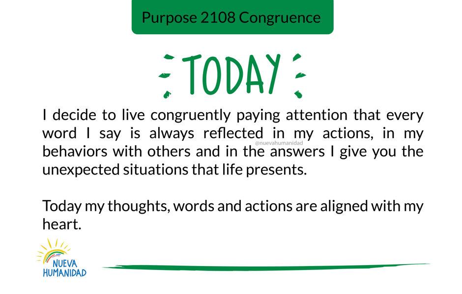 Purpose 2108 Congruence