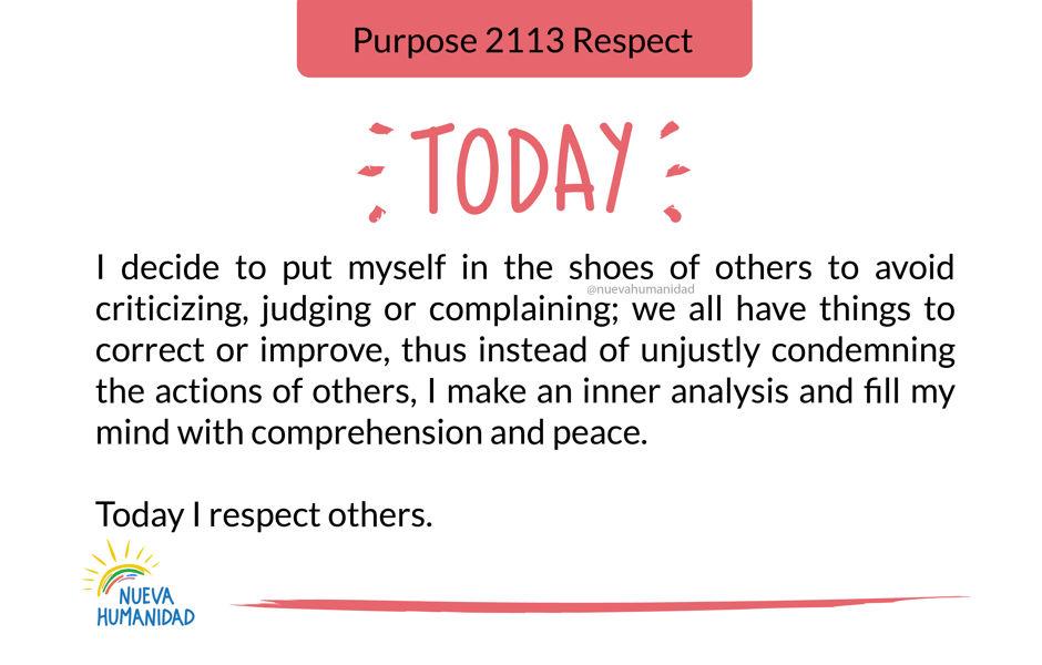 Purpose 2113 Respect