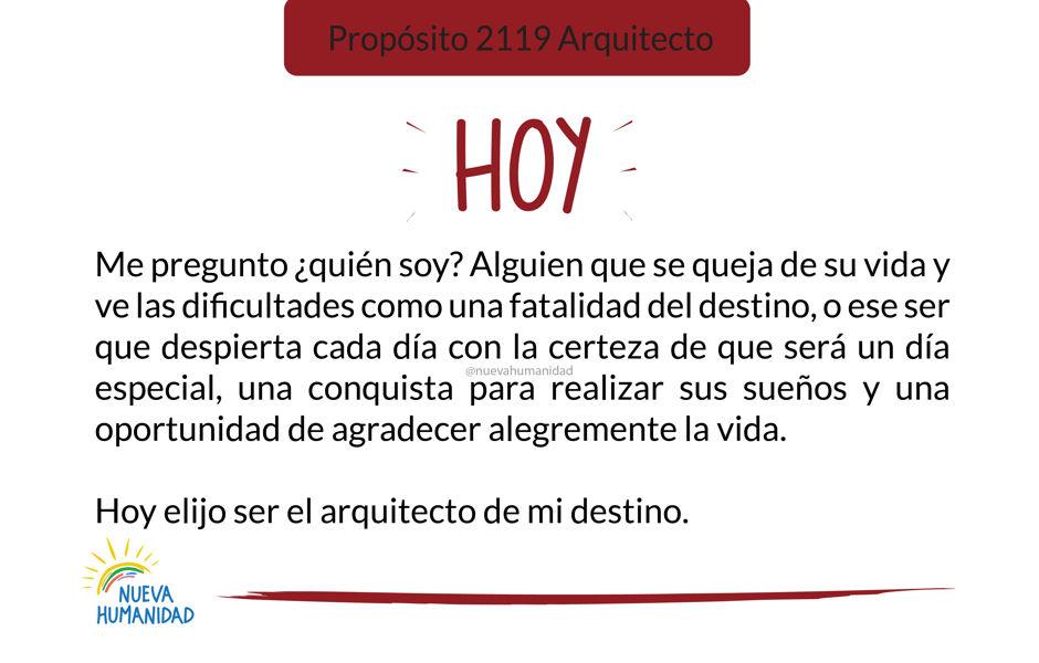 Propósito 2119 Arquitecto