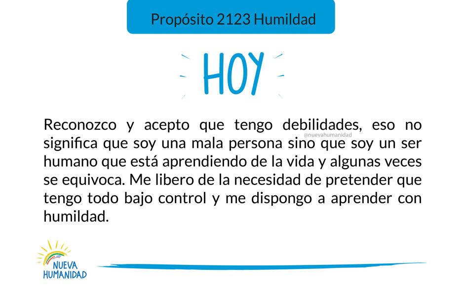 Propósito 2123 Humildad