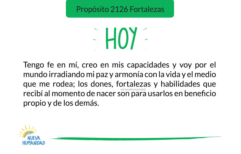 Propósito 2126 Fortalezas