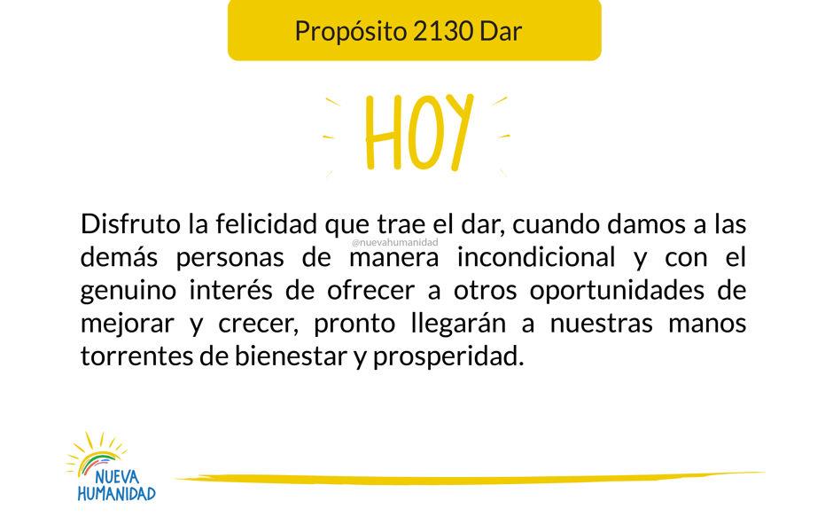 Propósito 2130 Dar