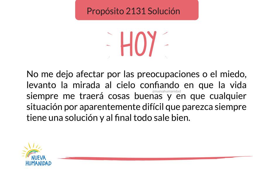 Propósito 2131 Solución