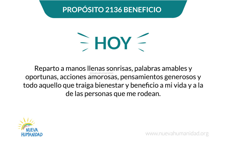 Propósito 2136 Beneficio