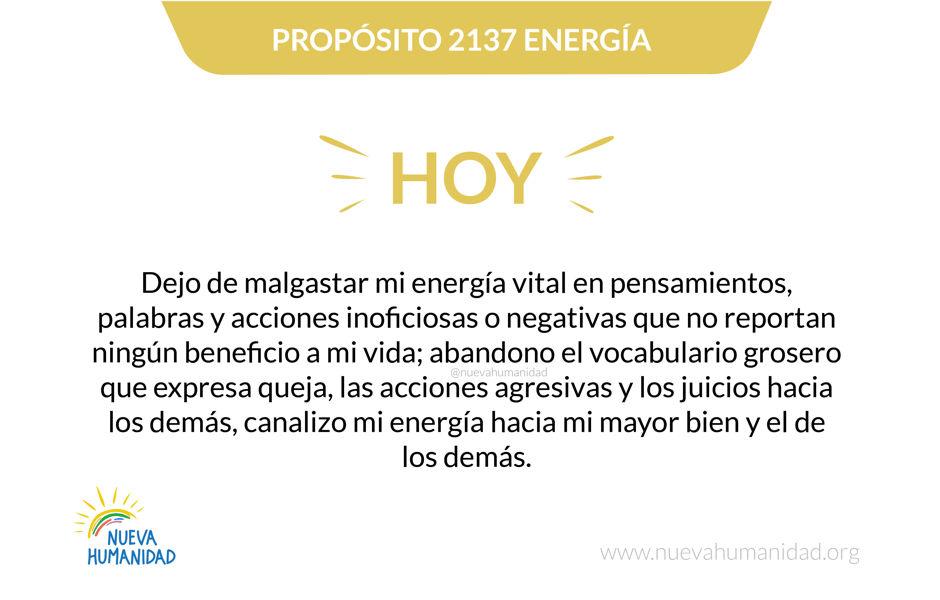 Propósito 2137 Energía