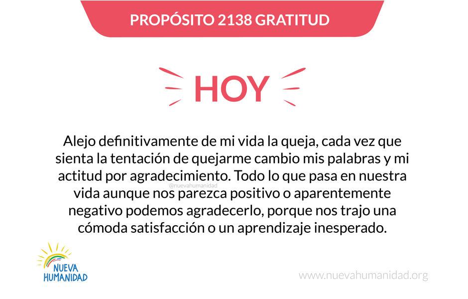 Propósito 2138 Gratitud