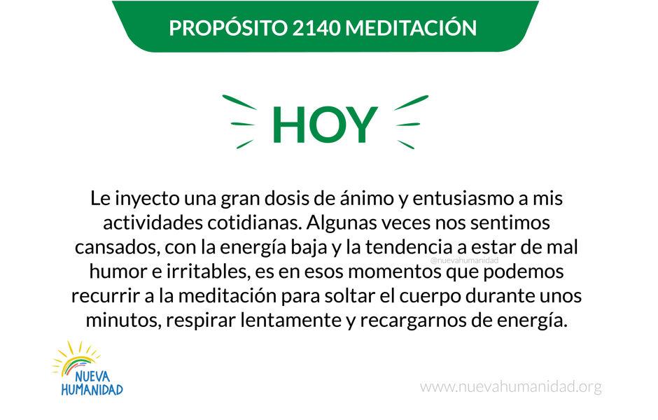 Propósito 2140 Meditación