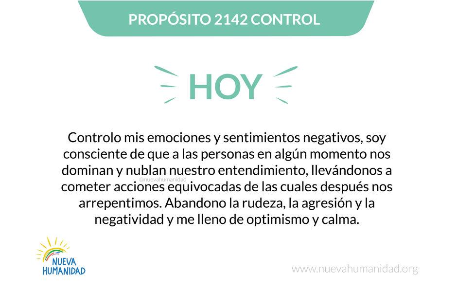 Propósito 2142 Control