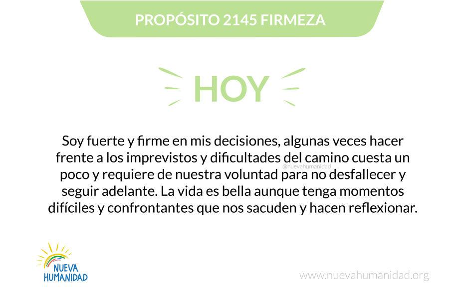 Propósito 2145 Firmeza