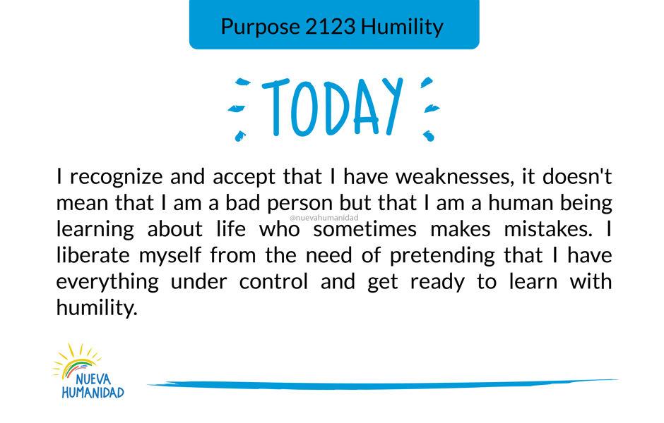 Purpose 2123 Humility