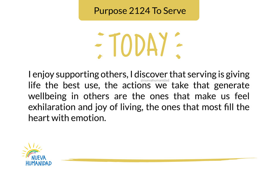 Purpose 2124 To Serve