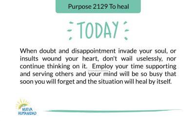 Purpose 2129 To heal
