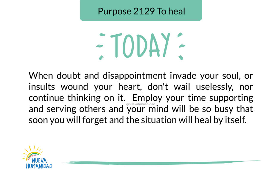 Purpose 2129 To heal