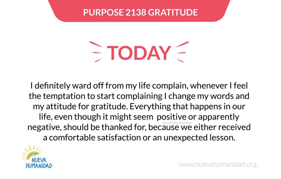Purpose 2138 Gratitude