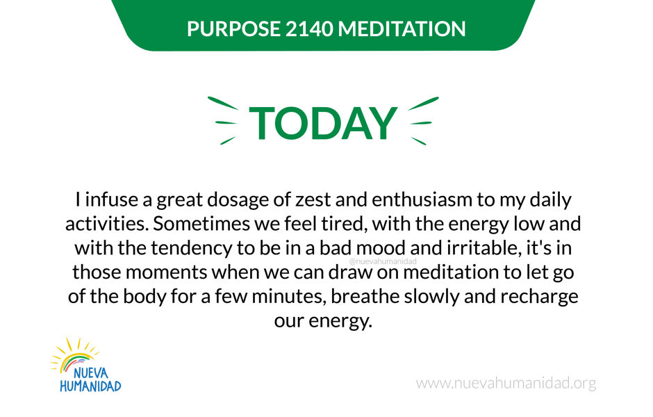 Purpose 2140 Meditation