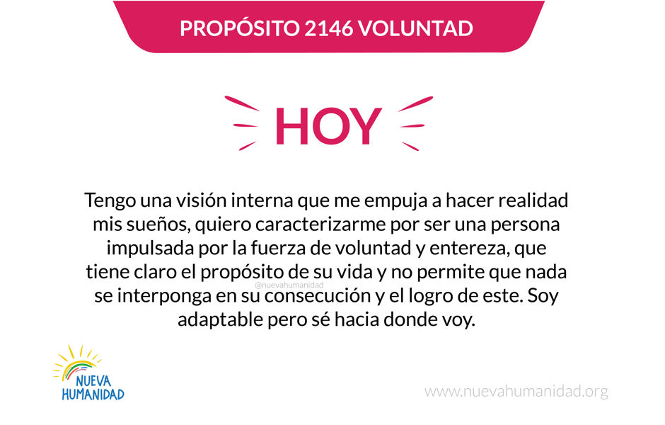 Propósito 2146 Voluntad