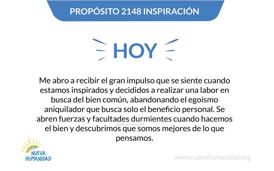 Propósito 2148 Inspiración