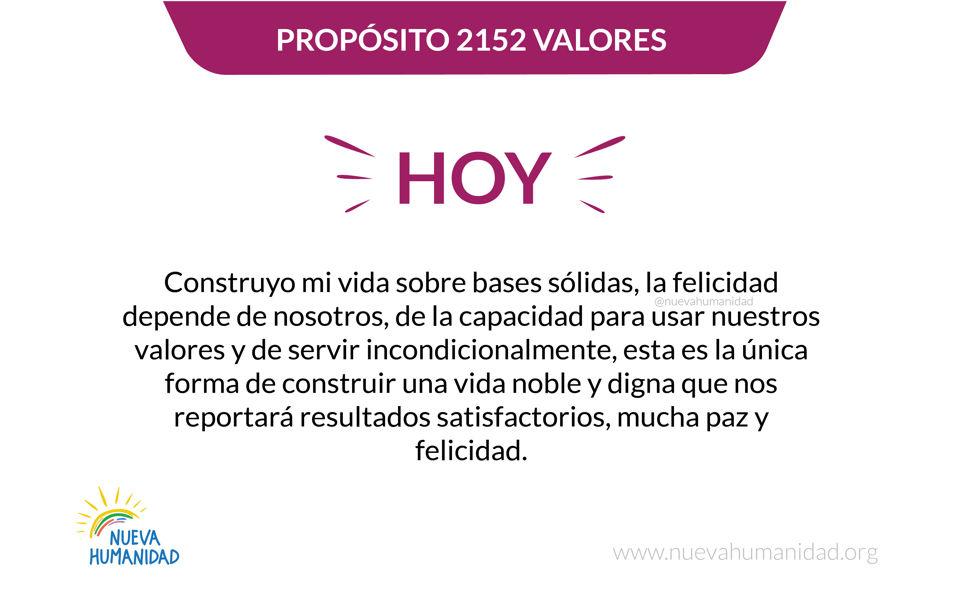 Propósito 2152 Valores