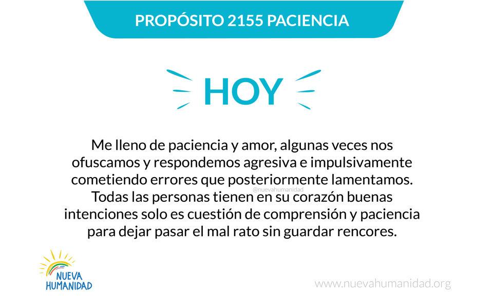 Propósito 2155 Paciencia