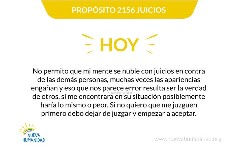 Propósito 2156 Juicios