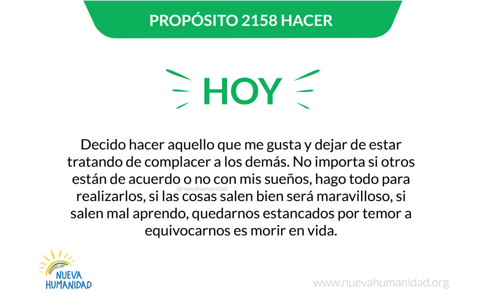 Propósito 2158 Hacer