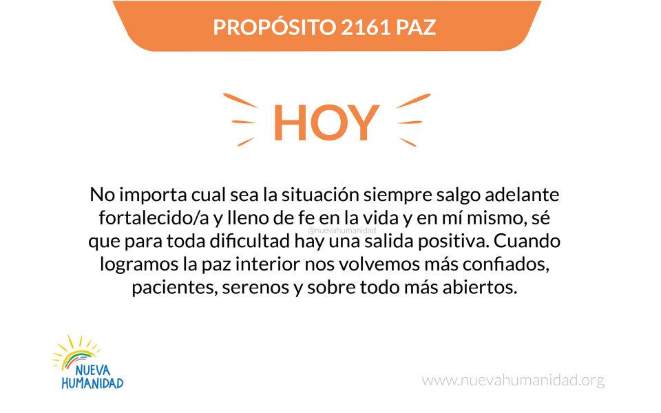 Propósito 2161 Paz