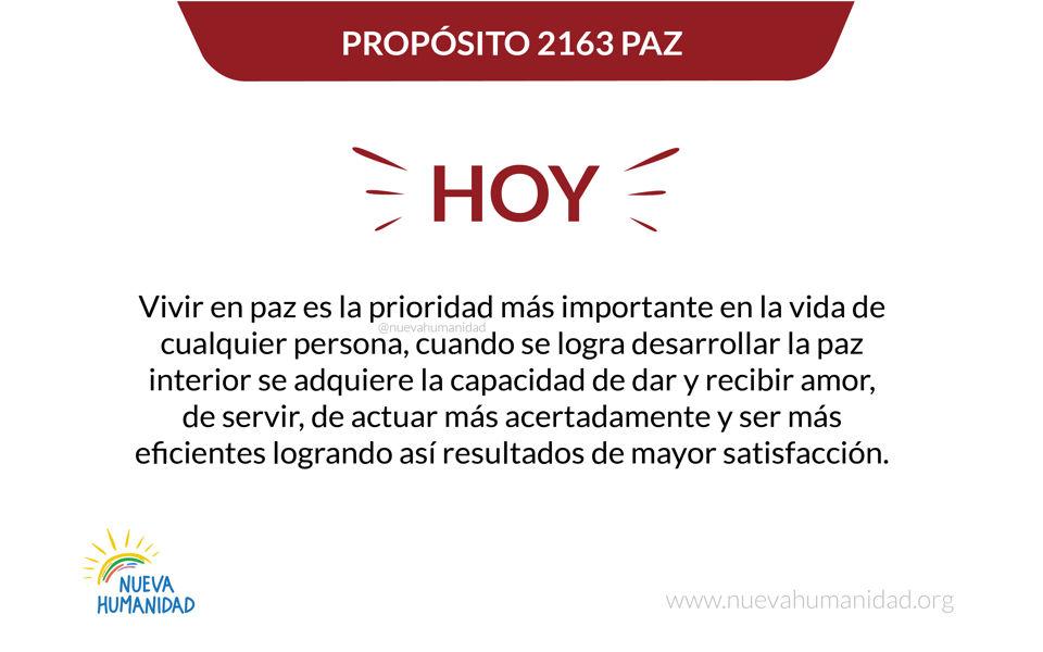 Propósito 2163 Paz