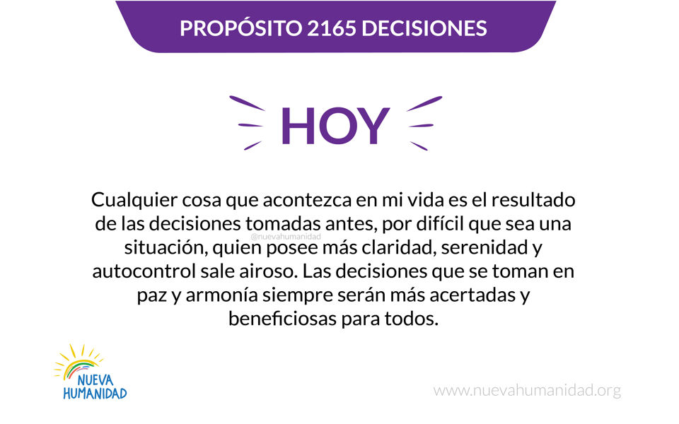 Propósito 2165 Decisiones
