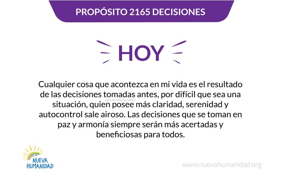 Propósito 2165 Decisiones