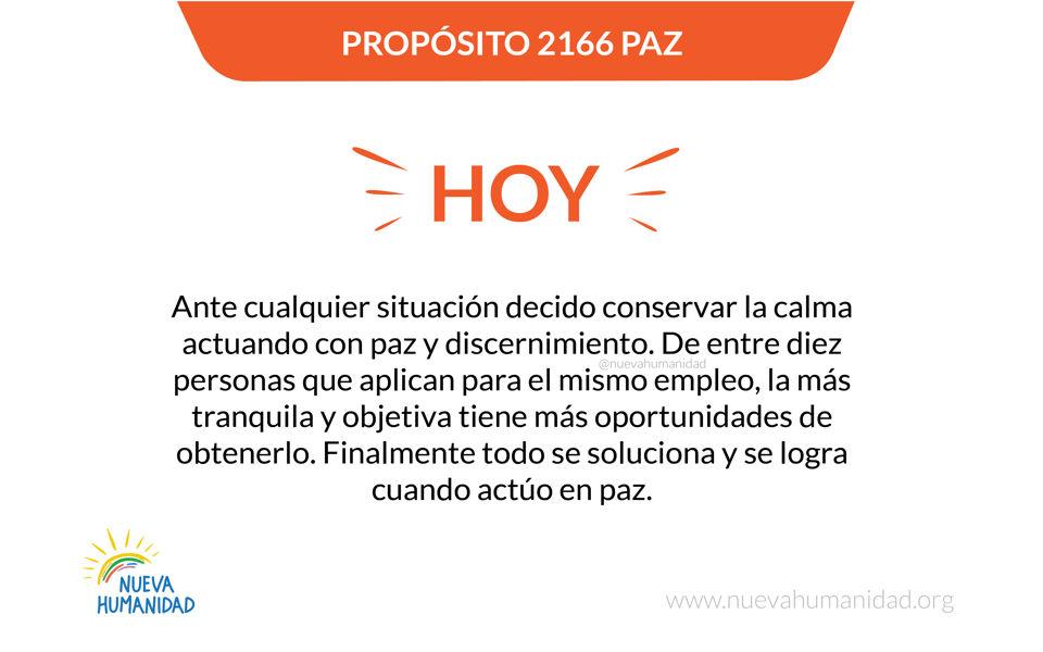 Propósito 2166 Paz