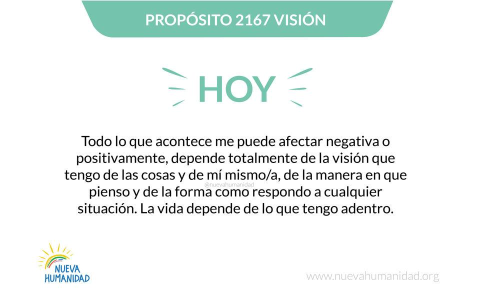 Propósito 2167 Visión
