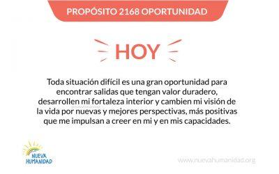 Propósito 2168 Oportunidad