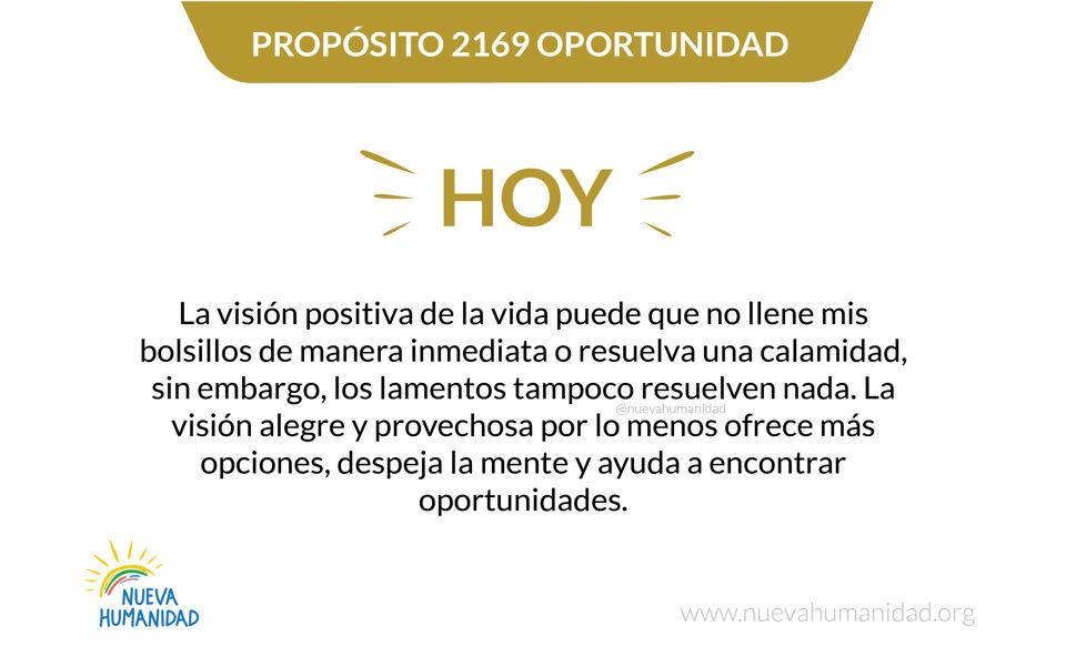 Propósito 2169 Oportunidad
