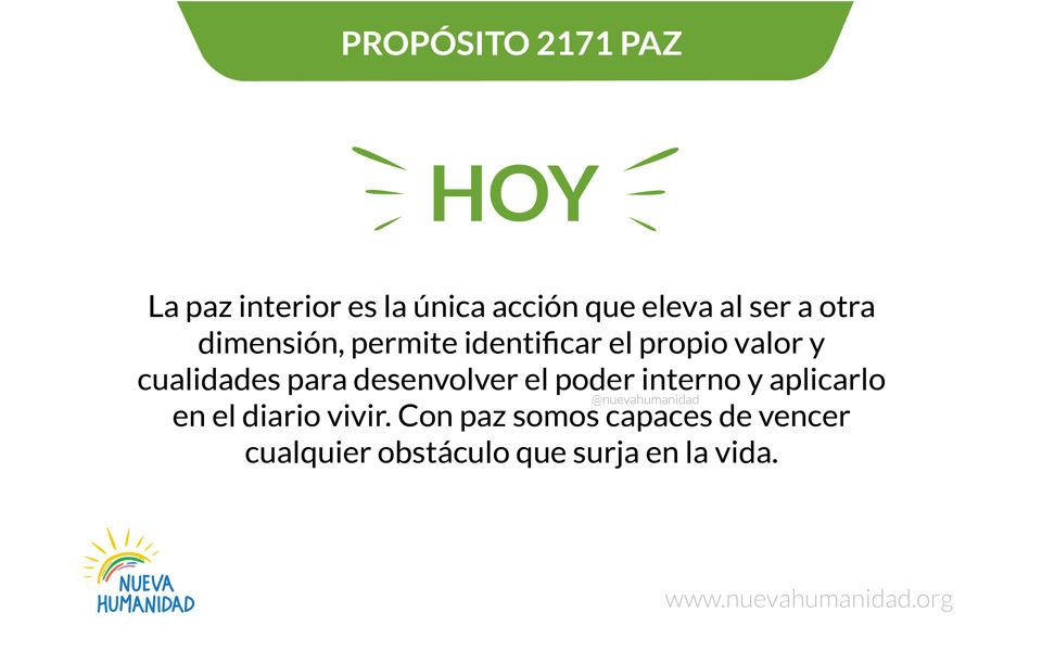 Propósito 2171 Paz