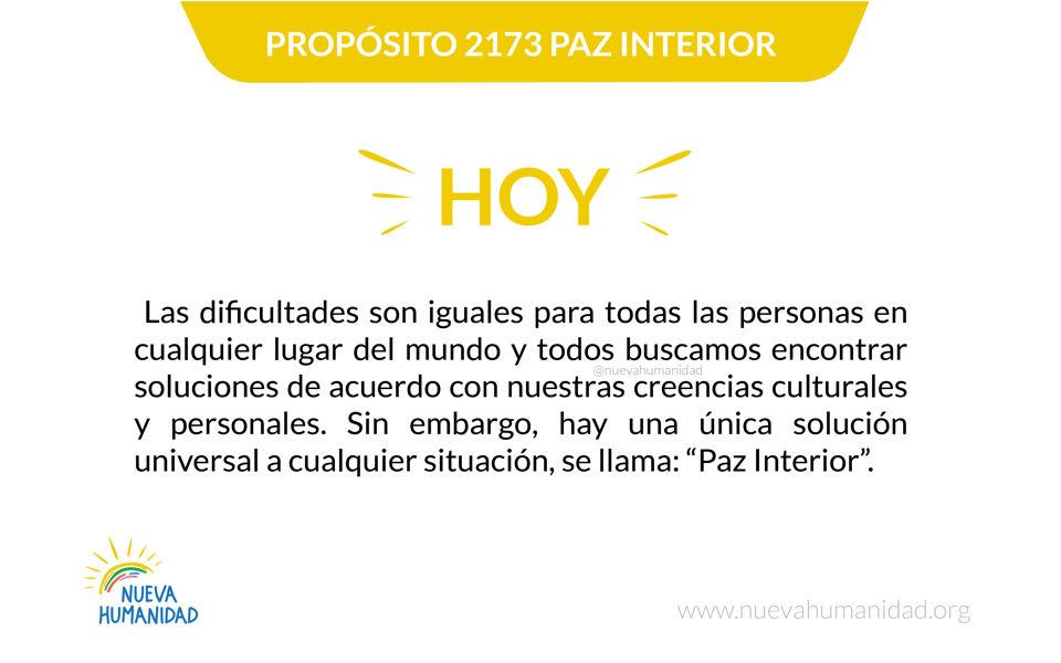 Propósito 2173 Paz interior