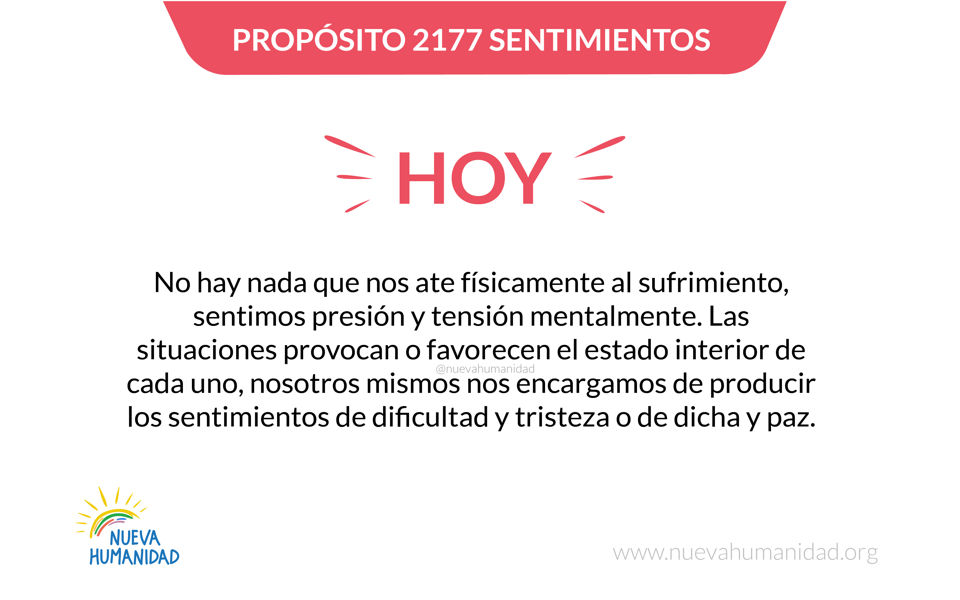 Propósito 2177 Sentimientos