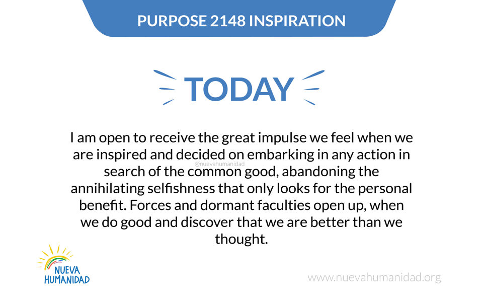 Purpose 2148 Inspiration