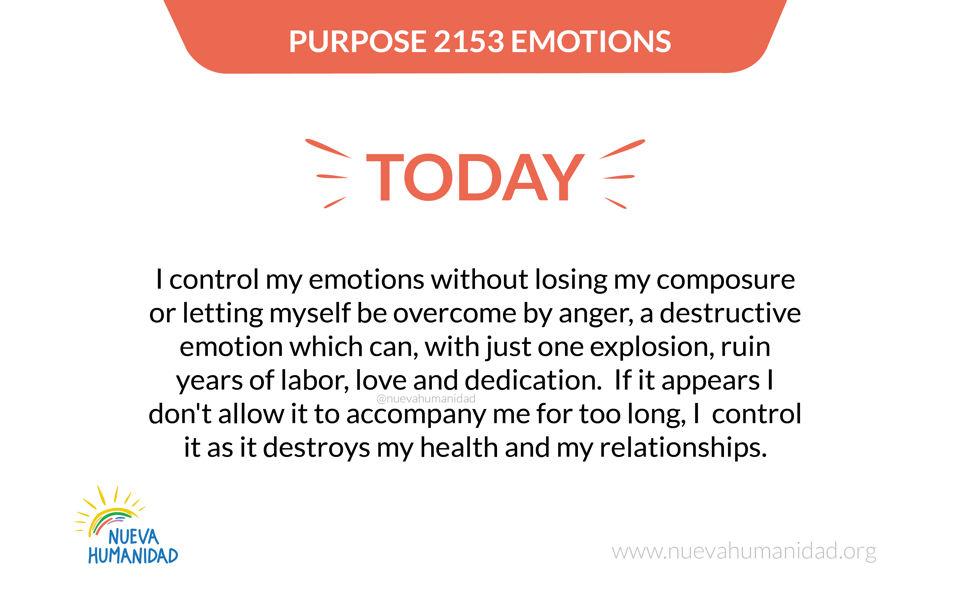 Purpose 2153 Emotions