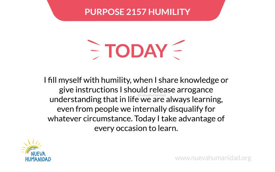 Purpose 2157 Humility