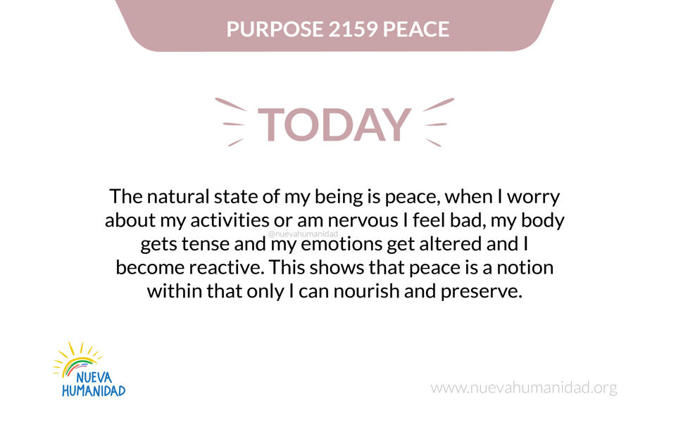 Purpose 2159 Peace