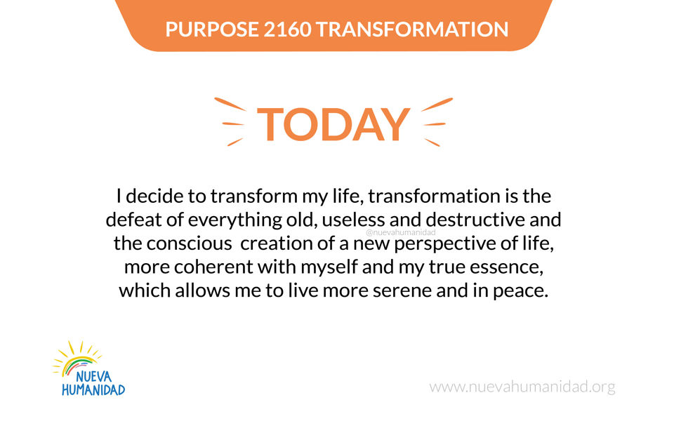 Purpose 2160 Transformation