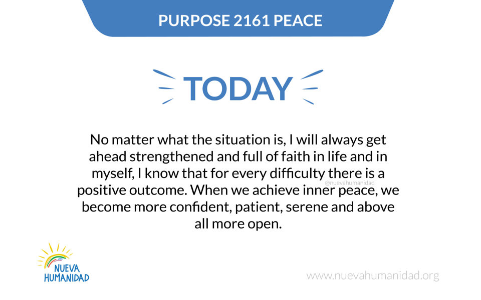 Purpose 2161 Peace
