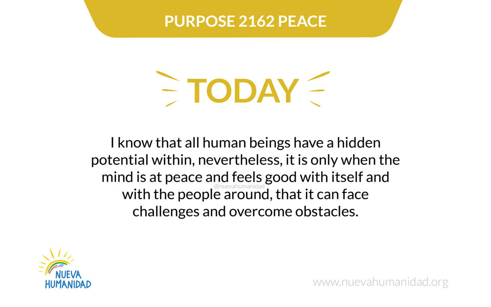 Purpose 2162 Peace
