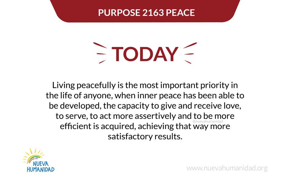 Purpose 2163 Peace