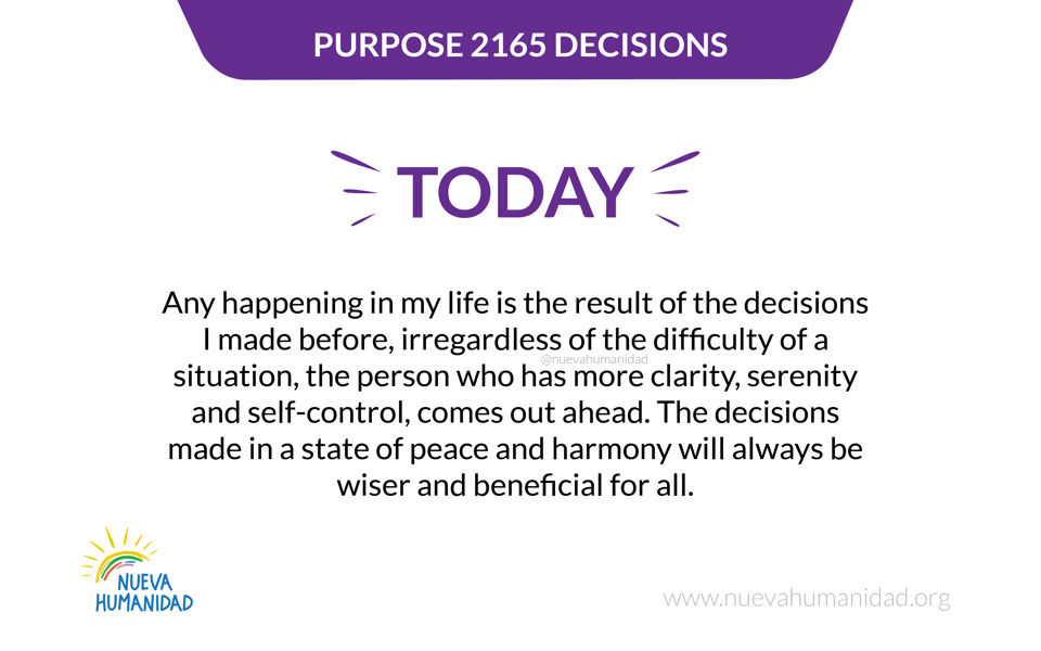 Purpose 2165 Decisions
