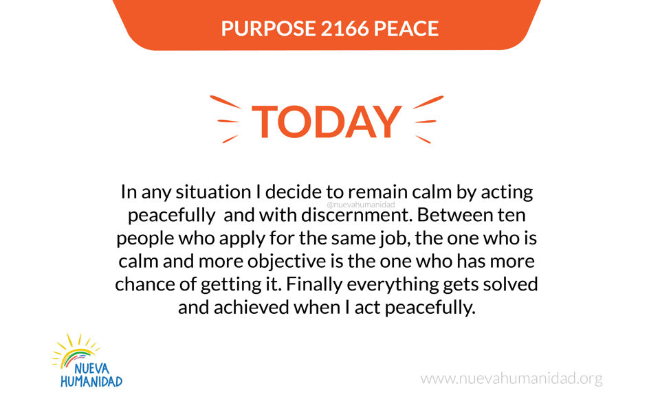 Purpose 2166 Peace