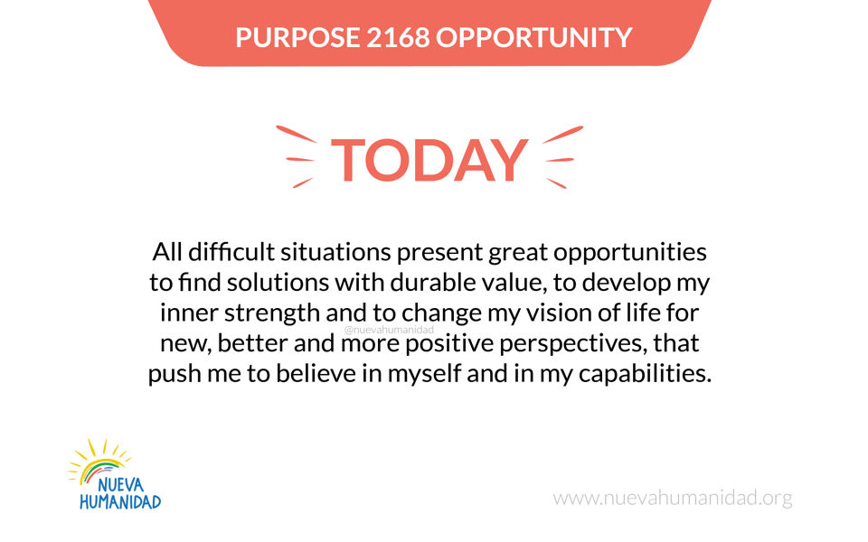 Purpose 2168 Opportunity